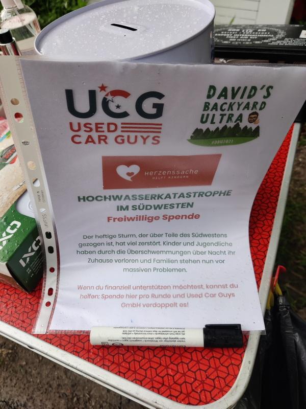 Beim Backyard Ultra wurden Spenden für die Hochwasseropfer gesammelt.