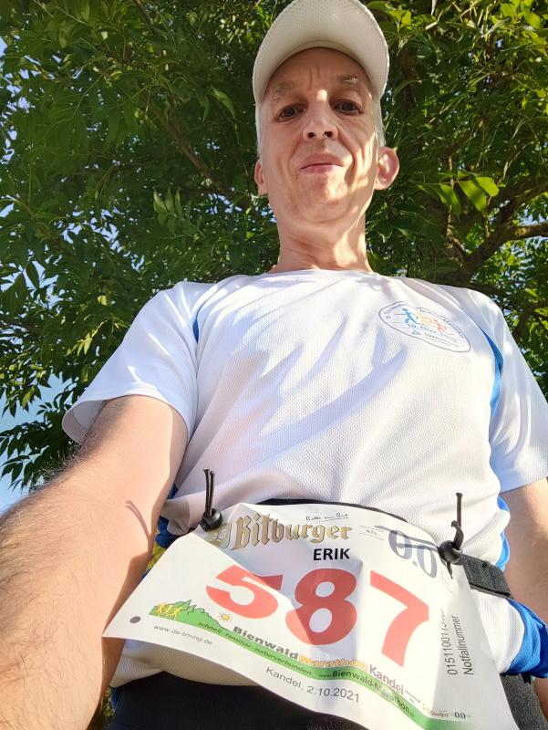Vor dem Bienwald-Marathon hatte ich noch Zeit genug für ein Selfie.